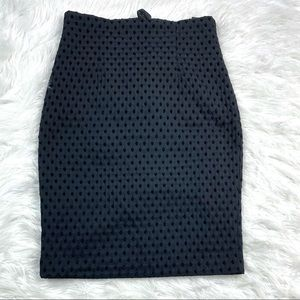 H&M Textured Pencil Skirt Straight Wiggle Career